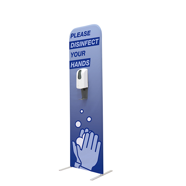 EuroFit Hands-Free Sanitizing Banner Stand