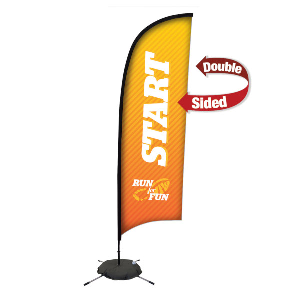 Creative Banner Sail Sign 9ft height, indoor/outdoor use, double-single sided