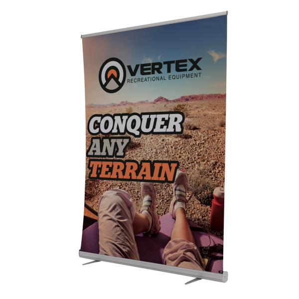 5' Jumbo Wide Banner Stand with Vinyl Banner Graphics