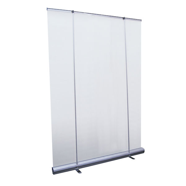 5' Wide Retractable Banner Stand with dual Tension Poles