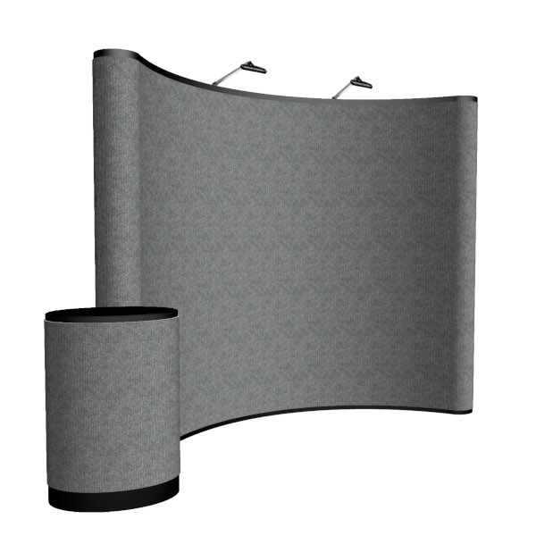 Creative Banner 10ft Curved floor height display Velcro™ fabric