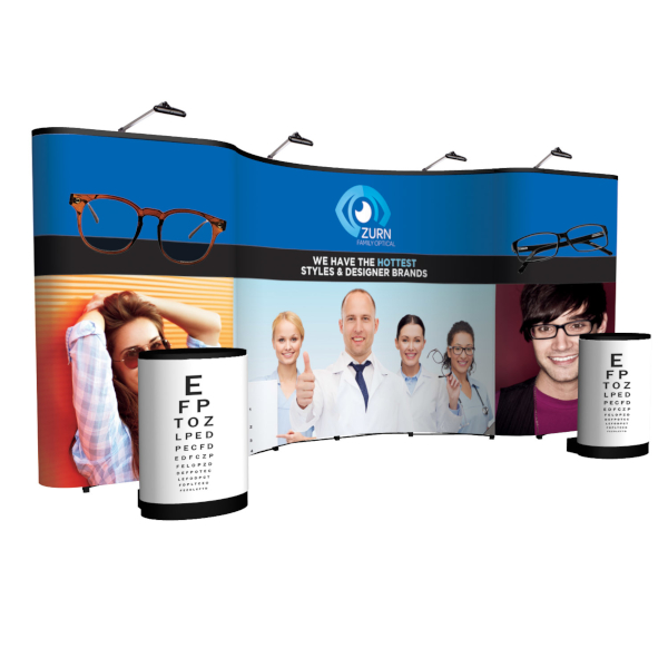 Creative Banner Arise 20ft combination kit with full mural, case graphic wraps