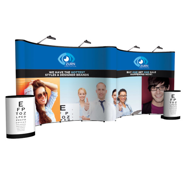 Creative Banner Arise Pop-up Displays floor height with full graphics