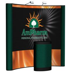 Creative Banner Arise 8ft Display with Custom Printed front graphic