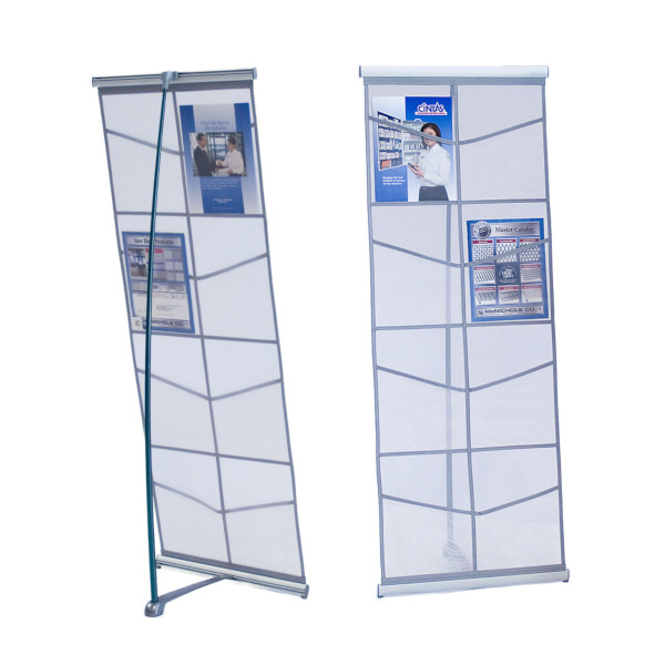WS Displays Mesh Literature Rack Double-Sided