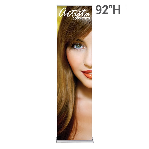 WS Display 24in. SilverStep retractable banner stand