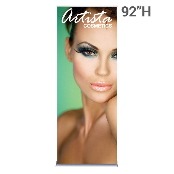WS Display 36in. SilverStep retractable banner stand