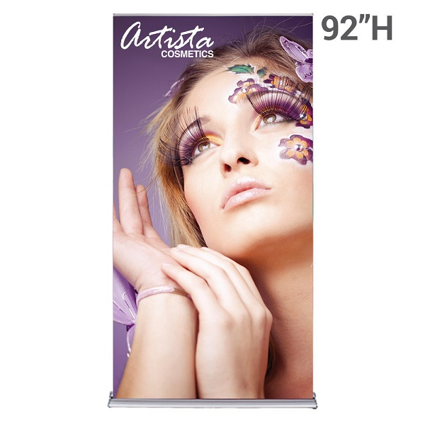 WS Display 48in. SilverStep retractable banner stand