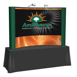 Creative Banner 8ft Tabletop Front Mural Kit, Fabric End Caps