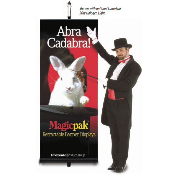 MagicPak banner stand with retractable base