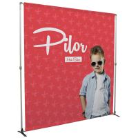 Bravo 8ft Display Kit with adjustable frame and graphics