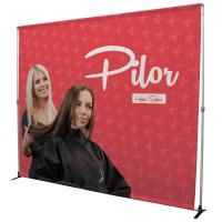 Creative Banner Bravo 8ft Display Kit with adjustable frame and graphics