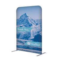 3ft x 54in Eurofit tension fabric wall with custom dye sub graphics