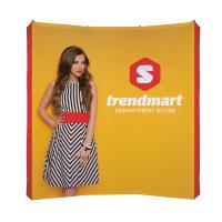 8' Curved Tension Fabric Splash Display