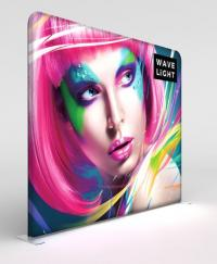 View: 10ft x 8ft WaveLight LED Backlit Trade Show Display