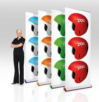 Expand Quickscreen 3 banner stands with matching base color options