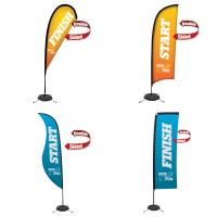 Creative Banner Standard Premium Sail Signs, indoor-outdoor use, single-double sided printing