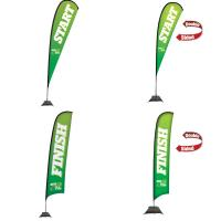 Creative Banner X-Large Premium Sail Signs, indoor-outdoor use, single-double sided printing